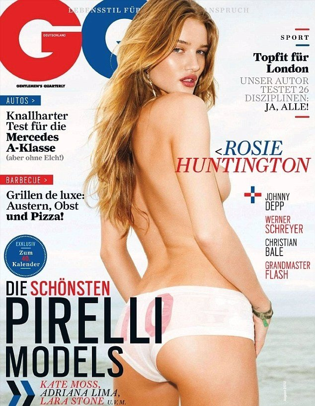 Rosie Huntington-Whiteley en topless