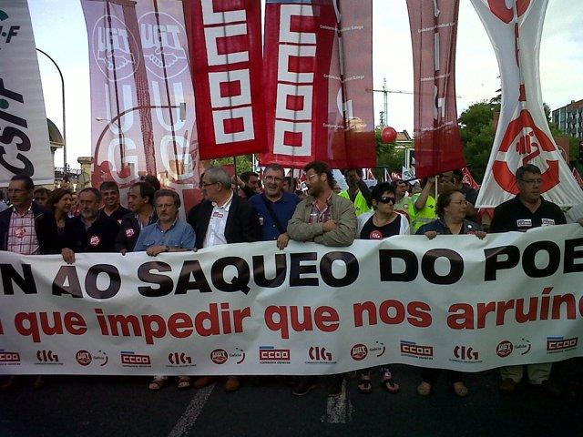 Protesta En A Coruña Contra Los Recortes
