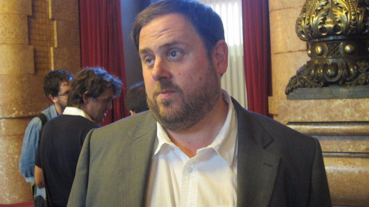 El Líder De ERC, Oriol Junqueras, En El Parlament