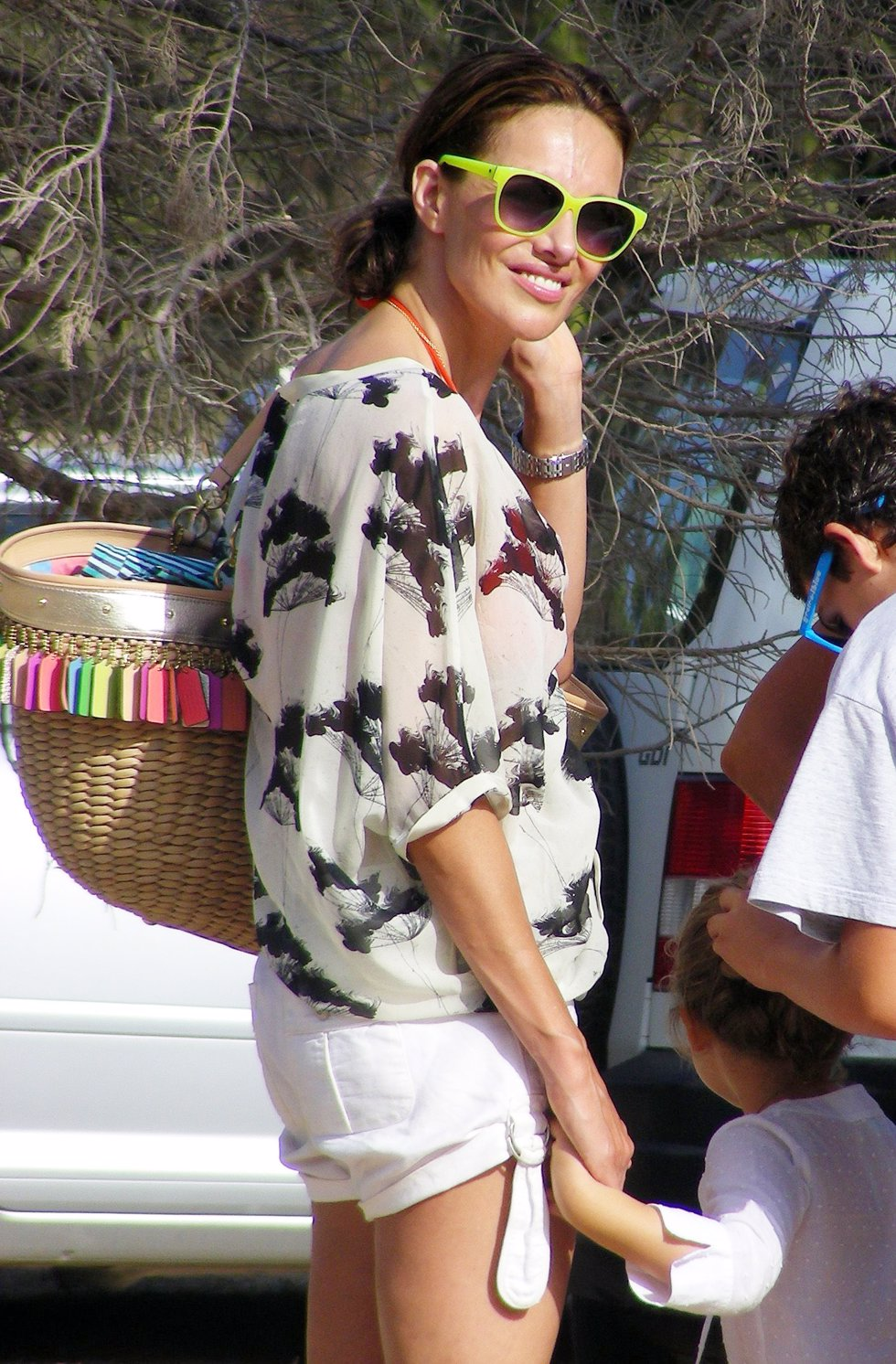 Adriana Abascal en Ibiza.