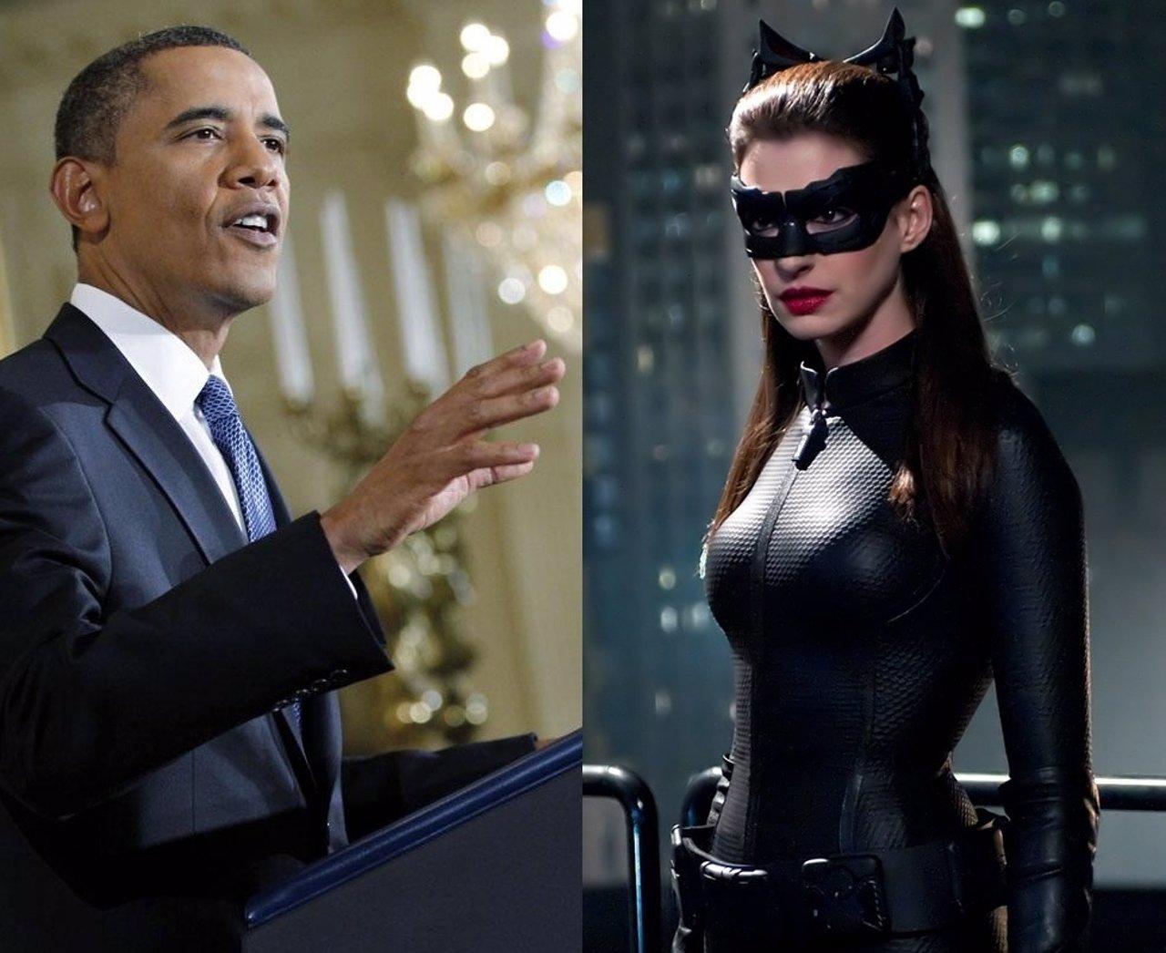 Barack Obama Y  Anne Hathaway