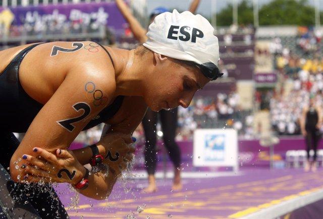 Erika Villaecija en los Juegos Olímpicos