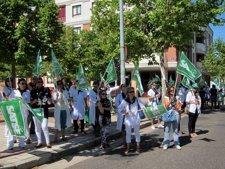 Manifestación del colectivo de Enfermería de Castilla y León