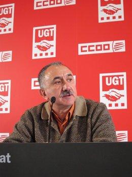 El secretario general de UGT de Catalunya, Josep Maria Álvarez