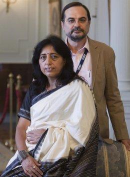 Oscar Pujol y Deepti Golani