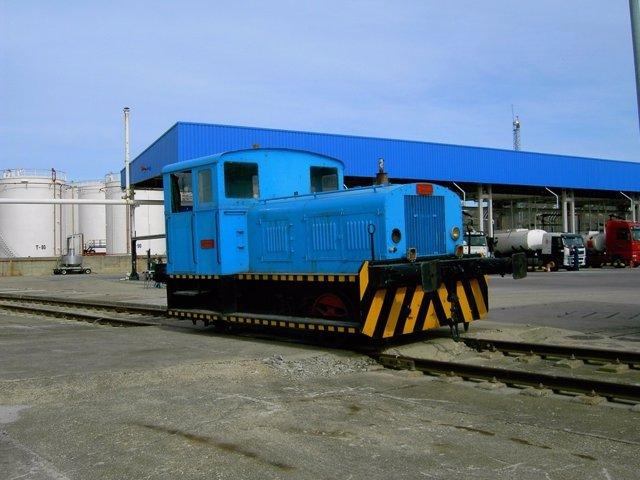 Locomotora De Campsa Restaurada Y En Orden De Marcha