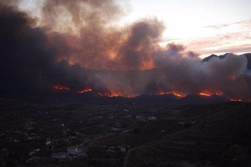 Incendio en Coín, (Málaga)