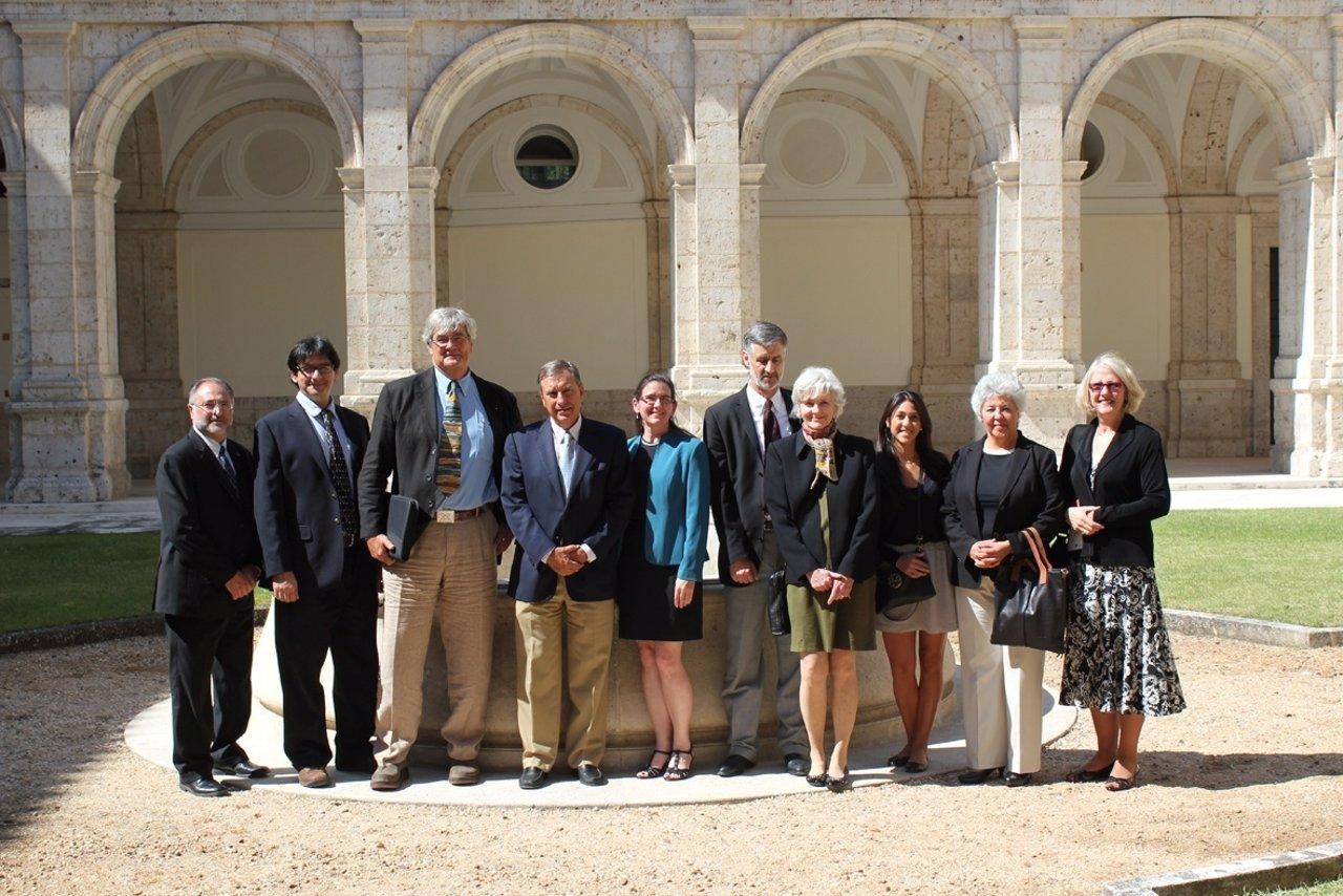 El consejero Juan José Mateos, y representantes de la Universidad de Whasingto