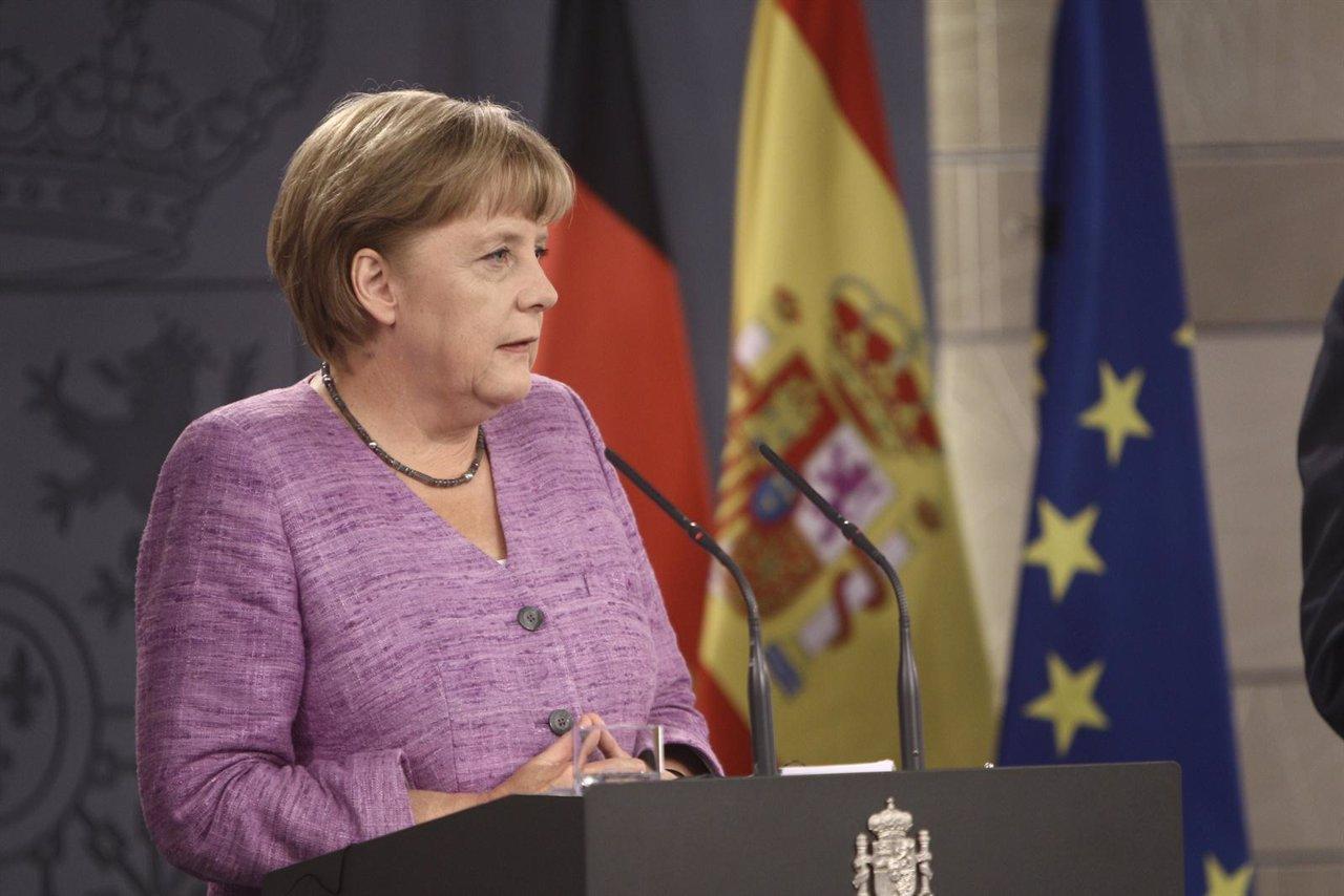 Rajoy y Merkel en La Moncloa
