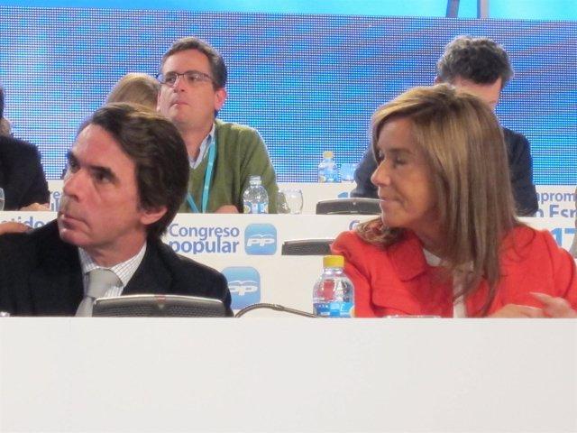 José María Aznar, Antonio Basagoiti Y Ana Mato En El Congreso Del PP