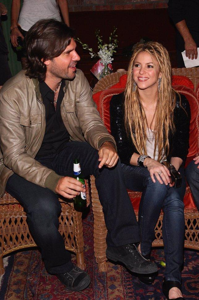 Antonio de la Rúa y Shakira cuando eran pareja