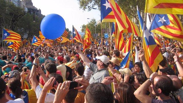 Manifestación Independentista De La Diada