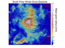 Nieve de CO2 en el Polo Sur de Marte