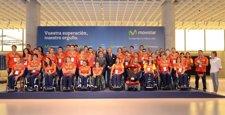 Empleados de Telefónica se reunen con miembros del equipo paralímpico español