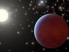Planetas que orbitan un Sol en un clúster (impresión artística)