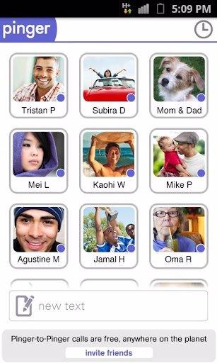 Aplicación de mensajes y llamadas por Internet Pinger
