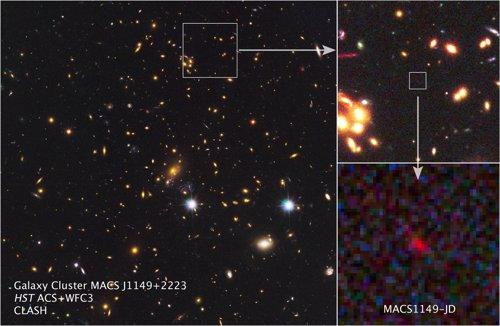 Detectan una galaxia formada 200 millones de años después del 'Big Bang' Se trata de la galaxia MACS1149-JD