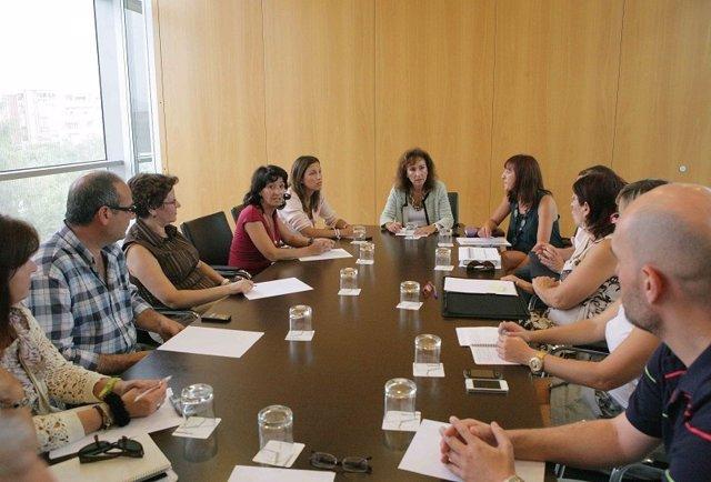 Reunión de Diputación sobre el servicio de atención psicológica