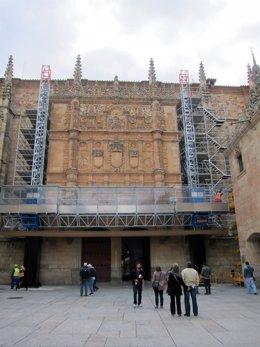 Fachada Del Edificio Histórico De La Universidad De Salamanca