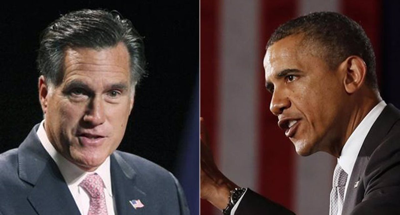 Montaje entre Obama y Mitt Romney