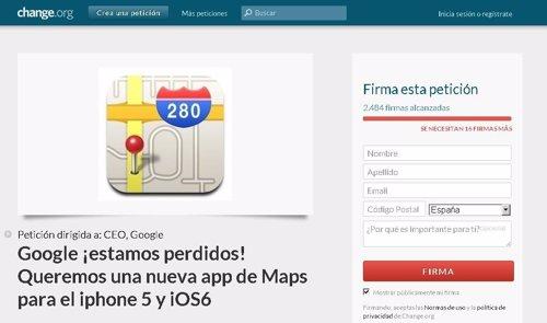 Petición online para que Google Maps vuelva a iOS