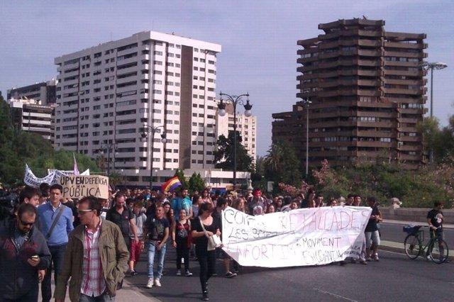 Manifestación Estudiantil En Valencia