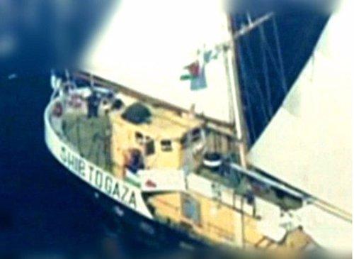El 'Estelle', único integrante de la III Flotilla de la Libertad