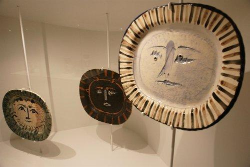 Piezas expuestas en 'Cerámicas de Picasso. Un regal de Jacqueline a Barcelona'