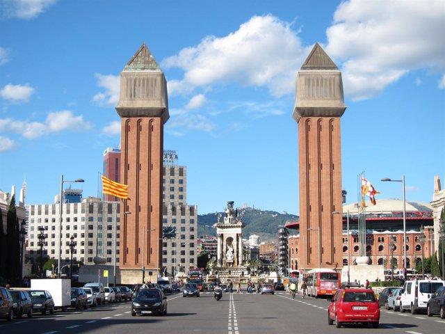 Las torres venecianas de la plaza Espanya de Barcelona