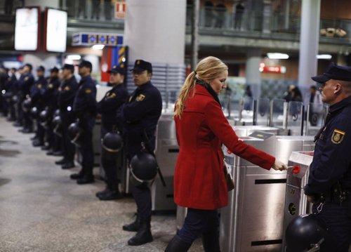 Huelga general del 14N en la estación de Atocha