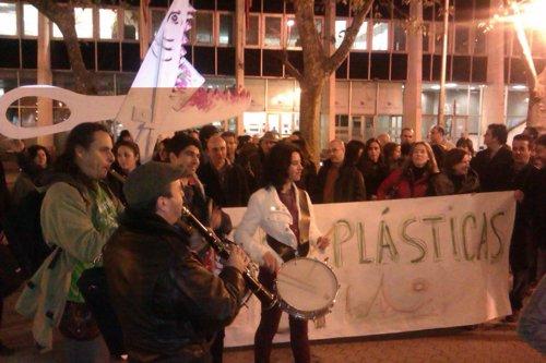 Protesta de los profesores de música y plástica en Santander. 22 noviembre 2012