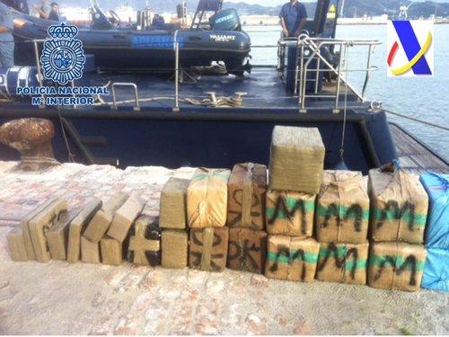 Interceptados 730 kilos de hachís en la costa de Motril