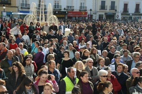 Manifestación en Tomelloso