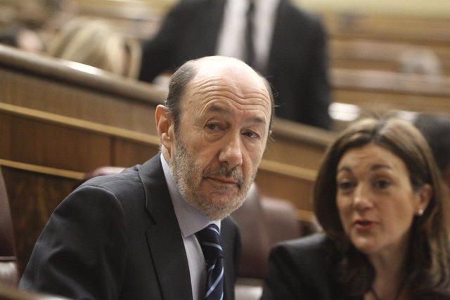 El secretario general del PSOE Alfredo Pérez Rubalcaba