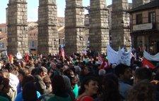 Concentración estudiantil en Segovia el pasado noviembre