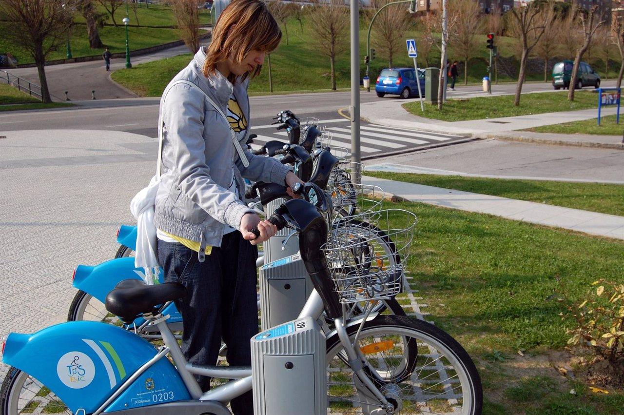Bicis de alquiler en el campus