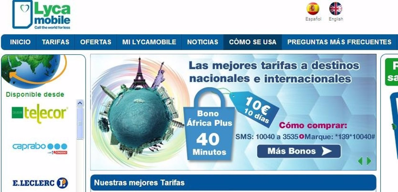 Web de Lycamobile