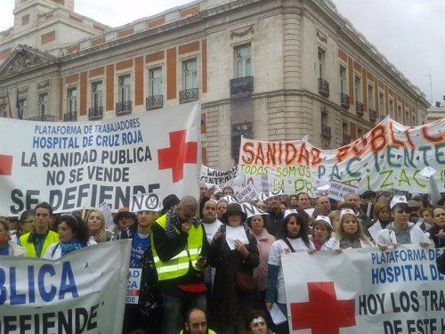 Manifestación de sanitarios madrileños