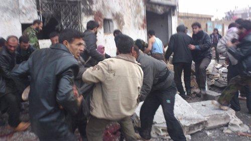 Bombardeo sobre una panadería en el centro de Siria