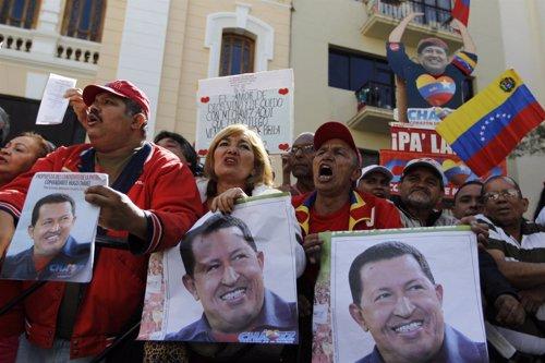 Seguidores de hugo Chávez en Venezuela
