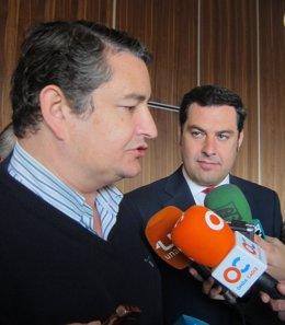 Antonio Sanz y Juan Manuel Moreno Bonilla (PP)
