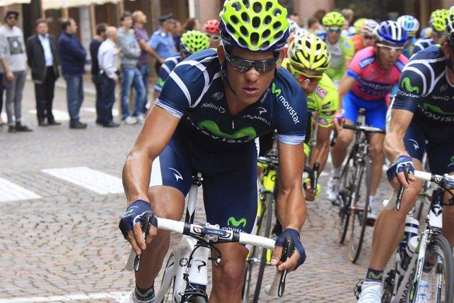 El ciclista del Movistar Andrey Amador