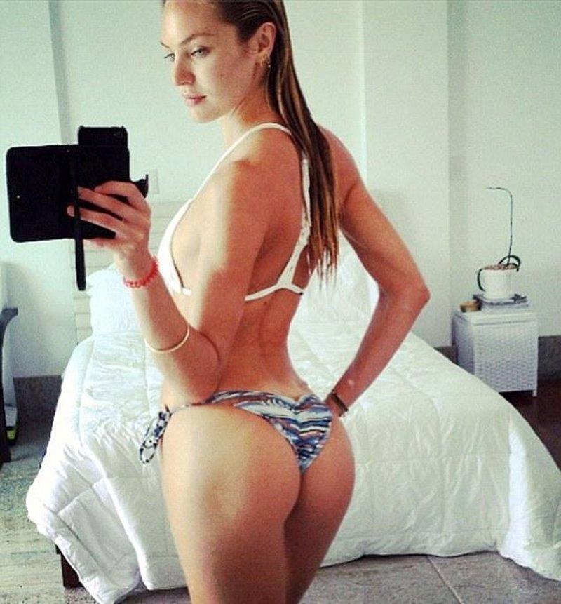 Candice Swanepoel publica en Twitter una foto en bikini brasileño