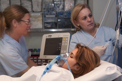 Paciente atendida en el Hospital de Torrevieja