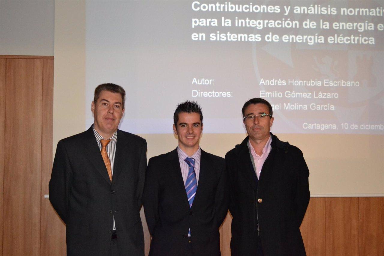 Emilio Gómez, Andrés Honrubia y Ángel Molina