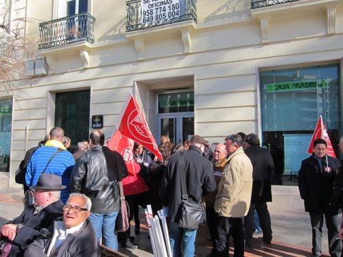 Concentraci n de trabajadores andaluces de bankia ncg y for Oficinas de bankia en granada