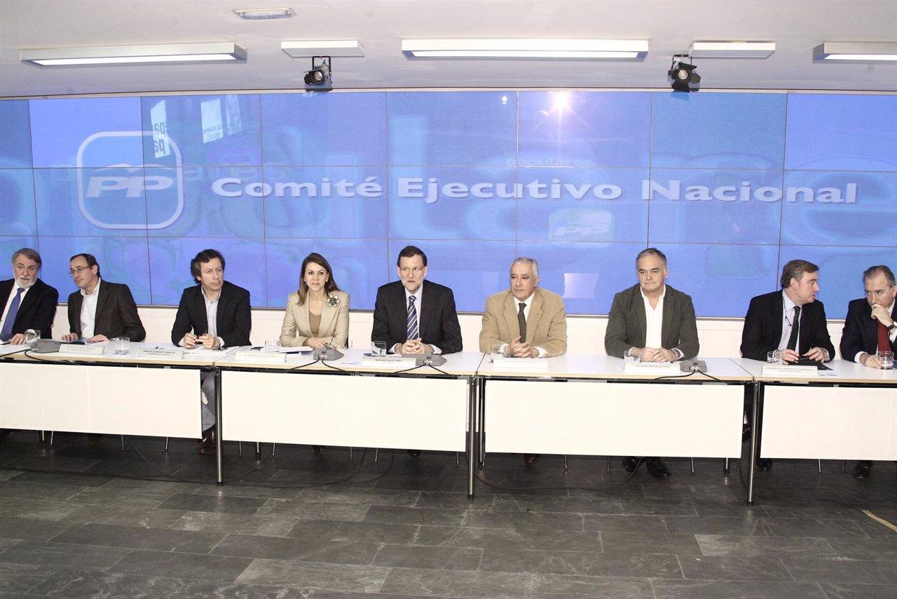 Mariano Rajoy, comité ejecutivo nacional, PP, Génova