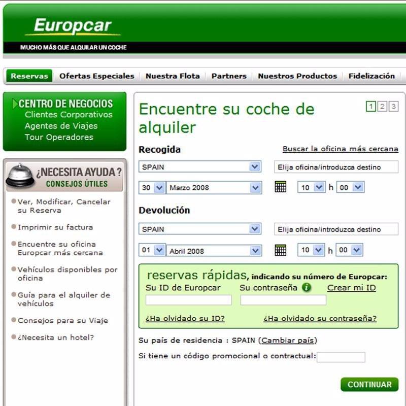 Europcar asume el servicio de alquiler de national y alamo for Oficinas europcar madrid