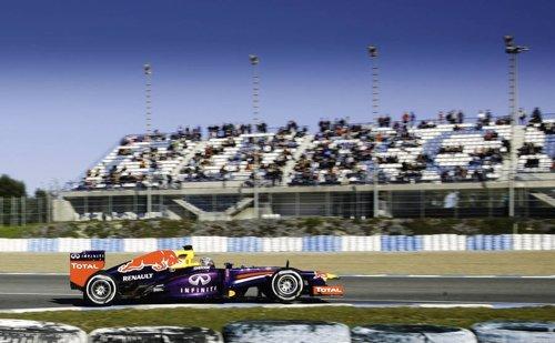 El alemán Sebastian Vettel en los entrenos de Jerez