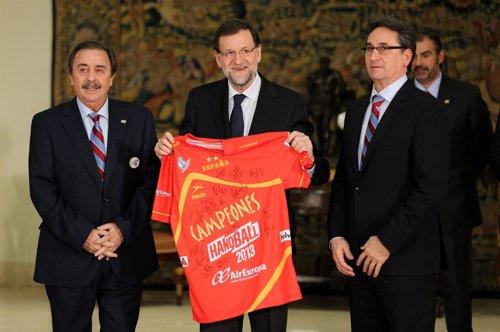 Mariano Rajoy, Juan de Dios Román y Valerio Rivera